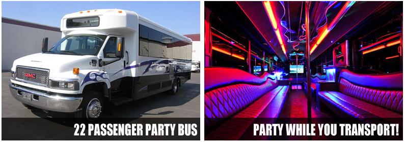 Airport Transportation party bus rentals Grand boston