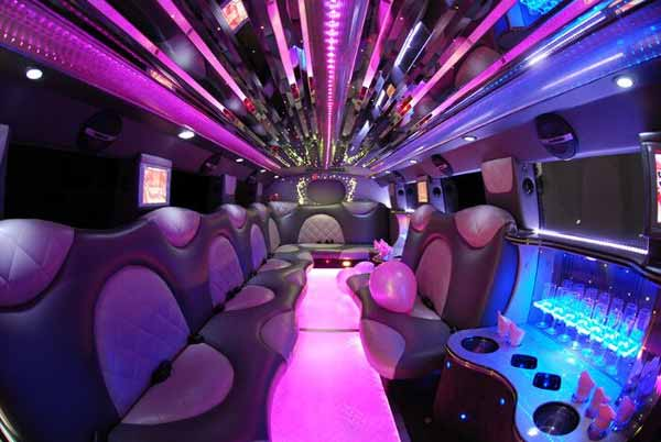 Cadillac Escalade limo interior boston