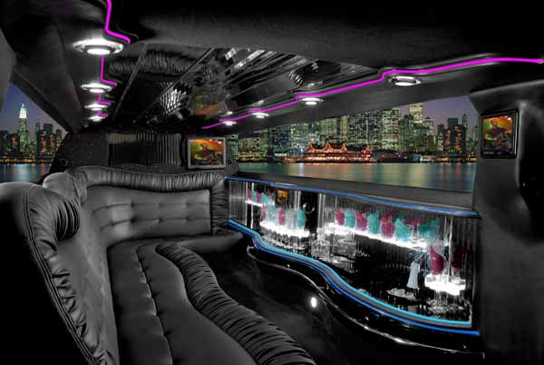 Chrysler 300 limo interior boston
