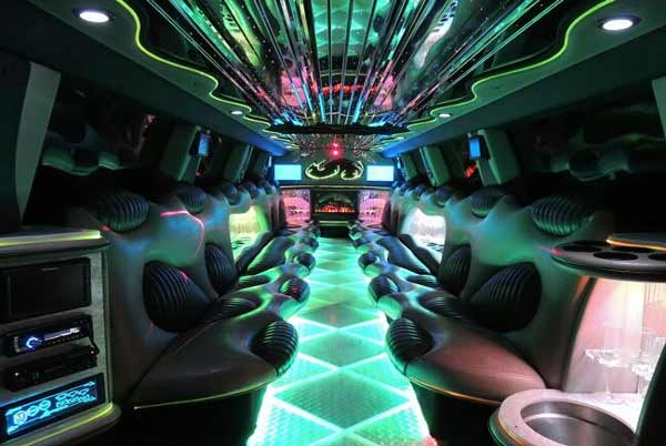 Hummer limo interior boston