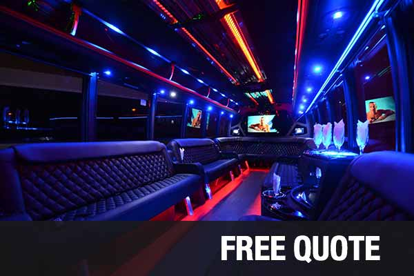 Wedding Transportation party buses for rental boston